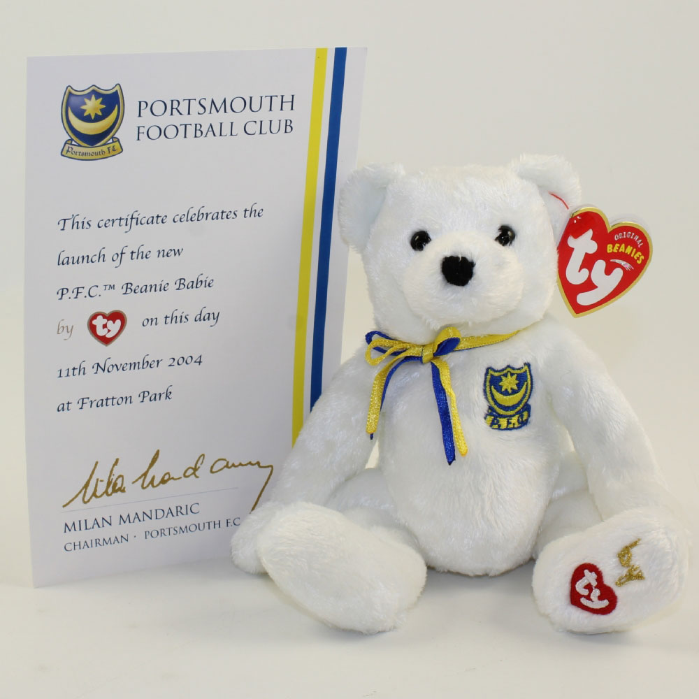 0a3121e84eb TY Beanie Baby - PFC the Bear (w  Certificate Card) (UK Portsmouth ...