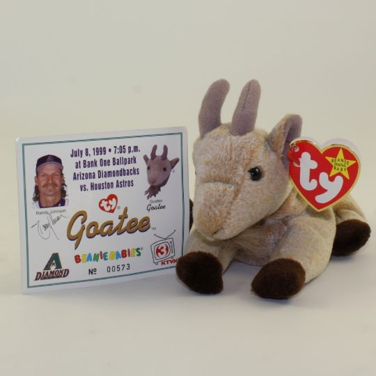 TY Beanie Baby - GOATEE the Goat (w  Commemorative Event Card - 7 8 99)   BBToyStore.com - Toys d1d6cfbf57f