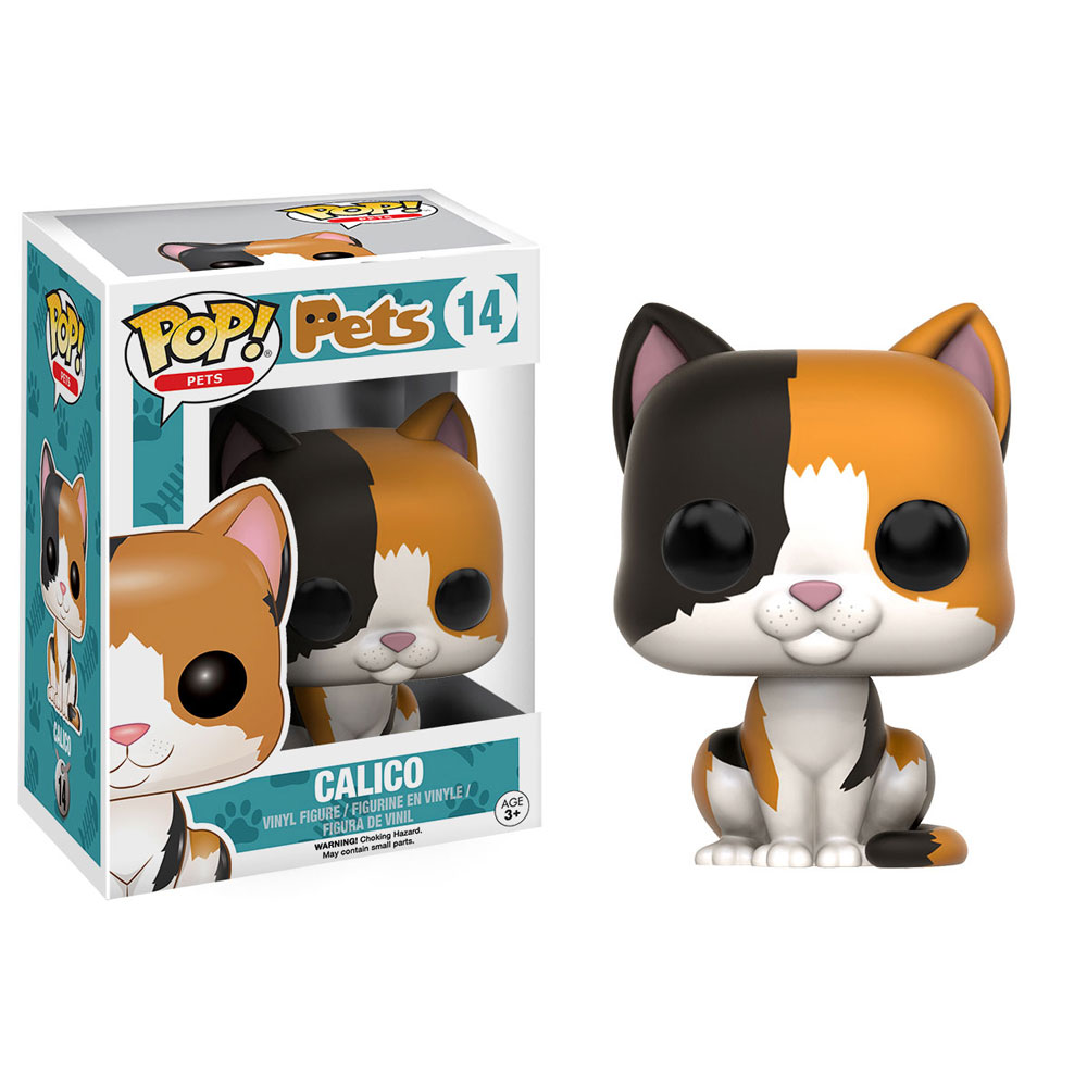 Funko Pop Pets Series 1 Vinyl Figure Calico Cat 4 Inch