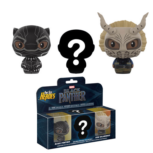 Funko Pint Size Heroes Vinyl Figures - Black Panther - 3-PACK