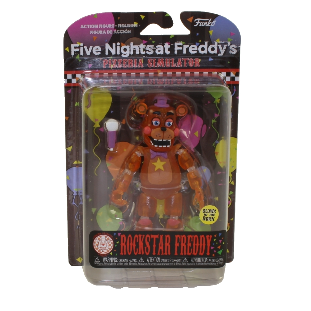 Pizza Sim Rockstar Freddy Glow Five Nights At Freddy/'s Funko Action Figure,