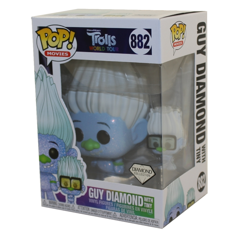 mondo TOUR-Guy Diamond con piccoli FUNKO POP Figura in vinile #882 Troll