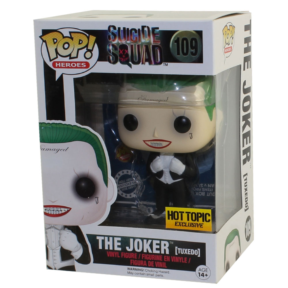 Funko POP! Suicide Squad - Vinyl Figure - THE JOKER (Tuxedo) *Hot Topic Exclusive*