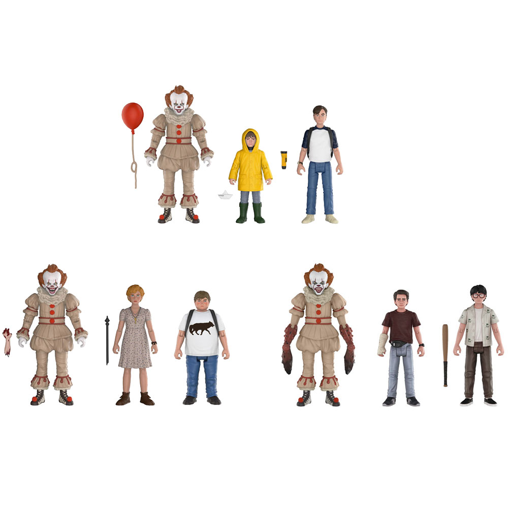 Funko Action Figures - Stephen King's It - 3-PACKS (Set of 3 - 9 Figures Total)