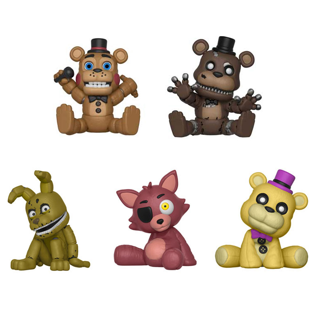 Funko Arcade Vinyl Figures - Five Nights at Freddy's - SET OF 5 (Plushtrap, Foxy, Toy, Nightmare & G