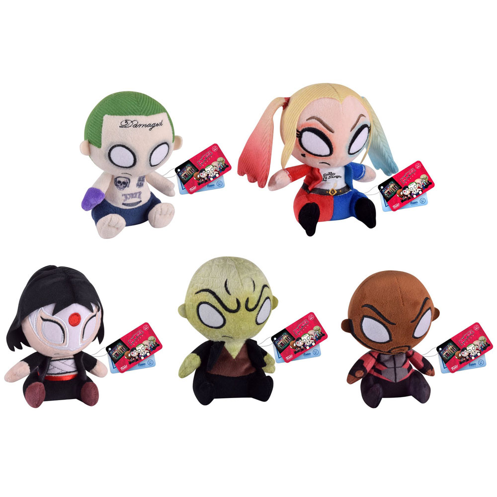 Funko Mopeez Plush Figures -Suicide Squad - SET OF 5 (Joker, Harley Quinn, Katana, Deadshot & Killer