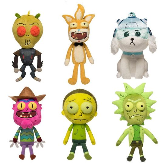 funko galactic plushies rick and morty s2 set of 6 bbtoystore