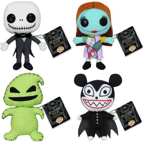 Funko Plushies - Nightmare Before Christmas - SET OF 4 (Jack, Sally ...