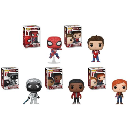 7f64842b5be Funko POP! Games - Marvel s Spider-Man Vinyl Figures - SET OF 5 (Miles