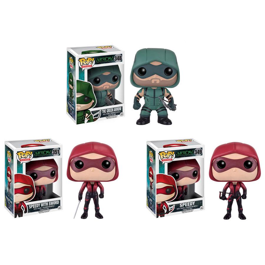 Funko Pop Tv Arrow Vinyl Figures Set Of 3 Green