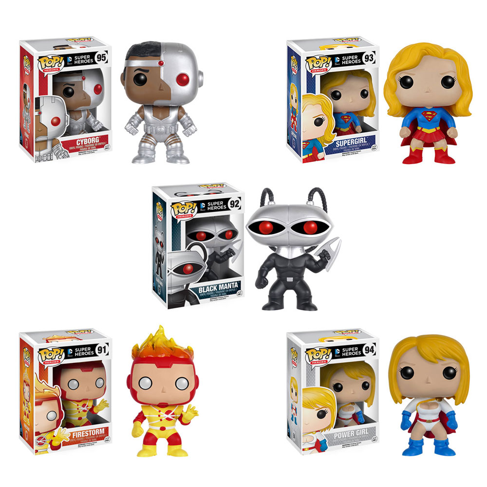Funko Pop Dc Super Heroes Vinyl Figures Set Of 5