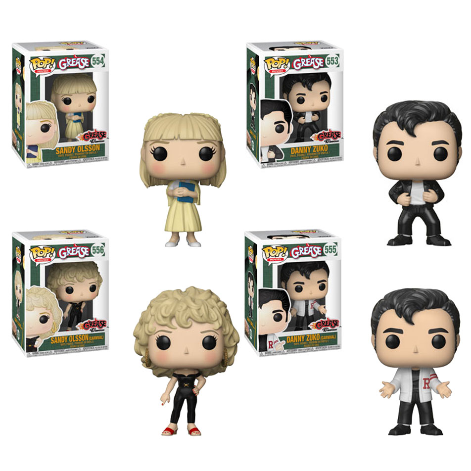 Funko POP! Movies - Grease Vinyl Figures - SET OF 4 (2 Danny & 2 Sandy)(Pre-order Ships Sept.)