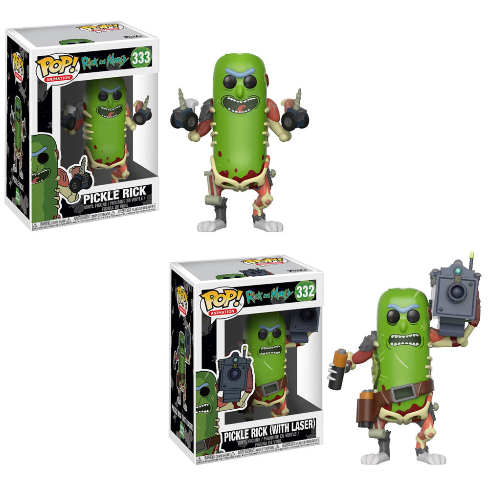 Funko POP! Animation Vinyl Figures - Rick and Morty - SET OF 2 PICKLE RICKS (Ships January)