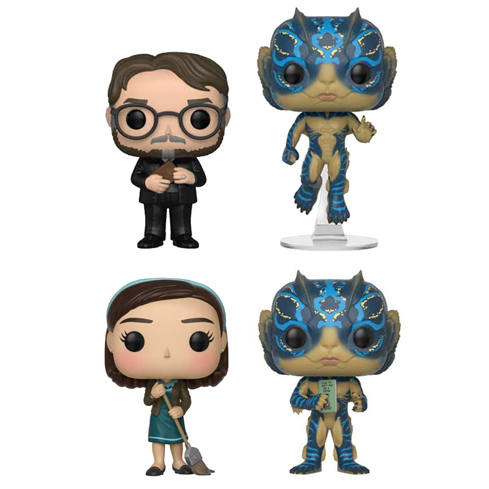 Funko POP! Movies - The Shape of Water Vinyl Figures - SET OF 4 (Pre-order Ships Sept)