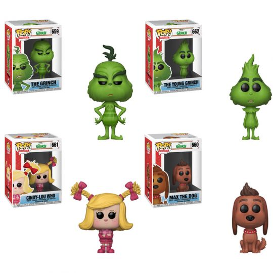 33d1615a27f Funko POP! Movies - The Grinch Vinyl Figures - SET OF 4 (2 Grinches ...
