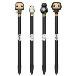 SET OF 4 Power Rangers S1 Black, Blue, Red Funko Collectible Pens w// Topper