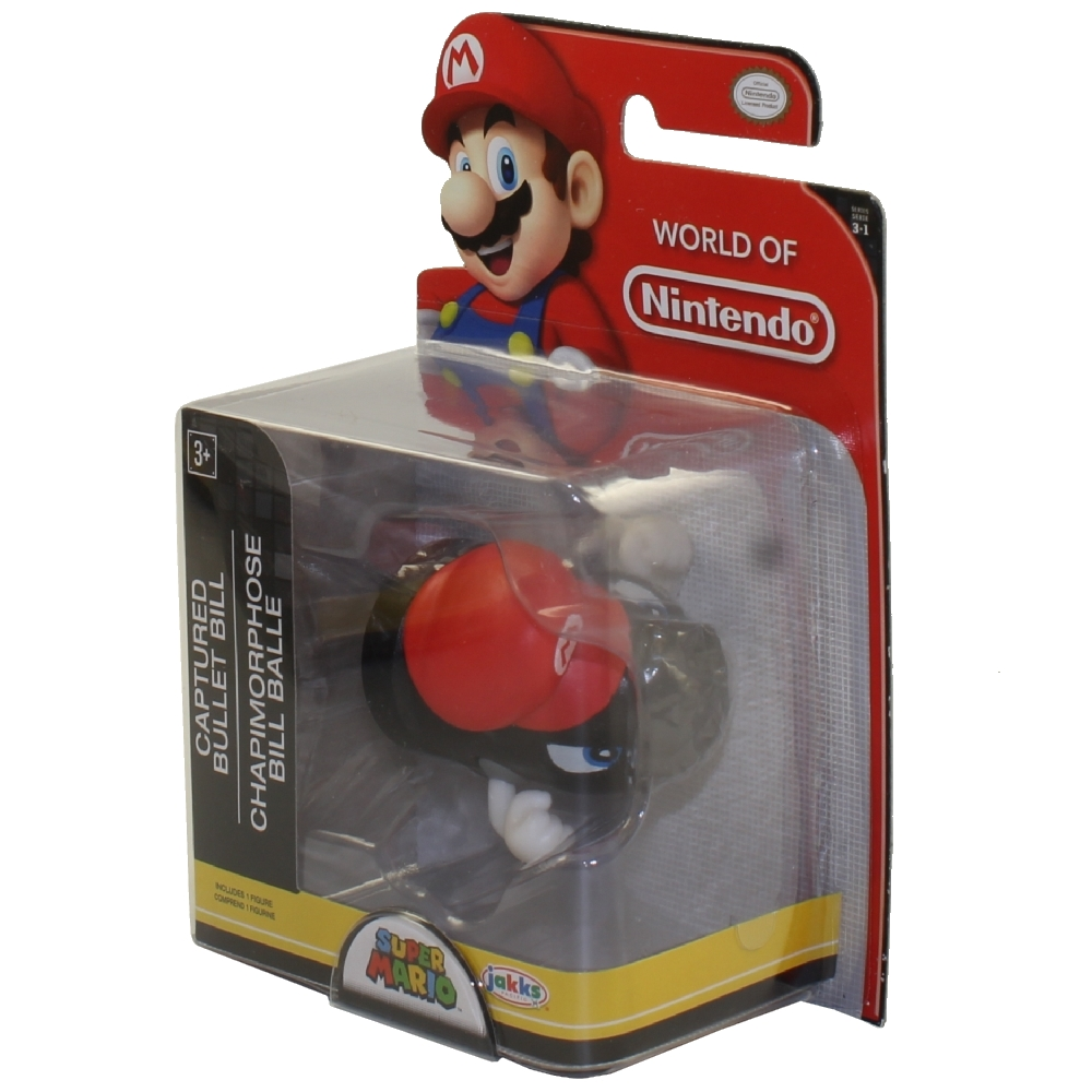 Jakks Pacific Toys - World of Nintendo Wave 16 Figure - CAPTURED BULLET BILL (Super Mario)(2.5 inch)