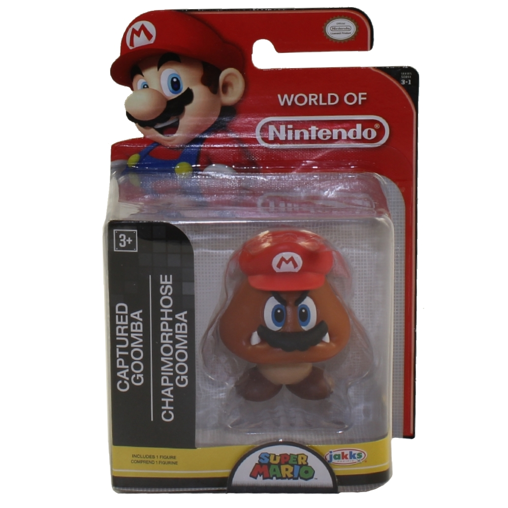 Jakks Pacific Toys - World of Nintendo Wave 16 Figure - CAPTURED GOOMBA (Super Mario)(2.5 inch)