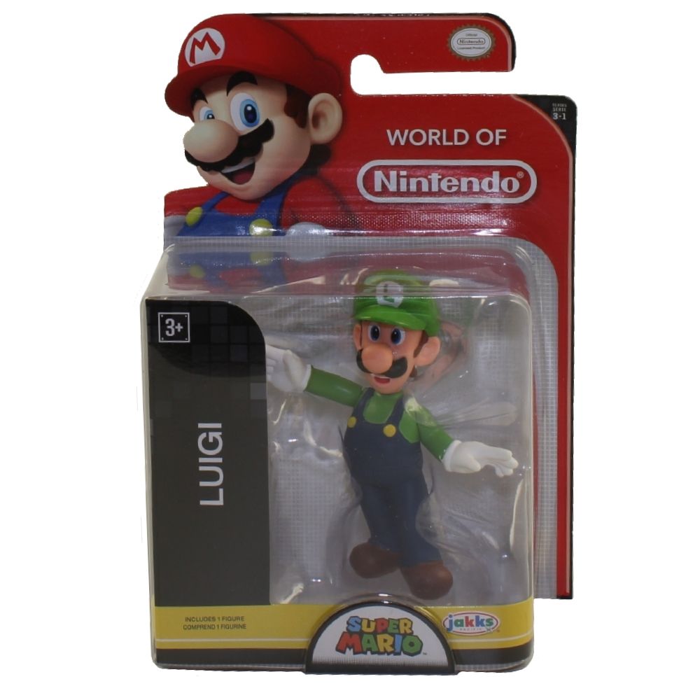 Jakks Pacific Toys - World of Nintendo Wave 16 Figure - LUIGI (Super Mario)(2.5 inch)