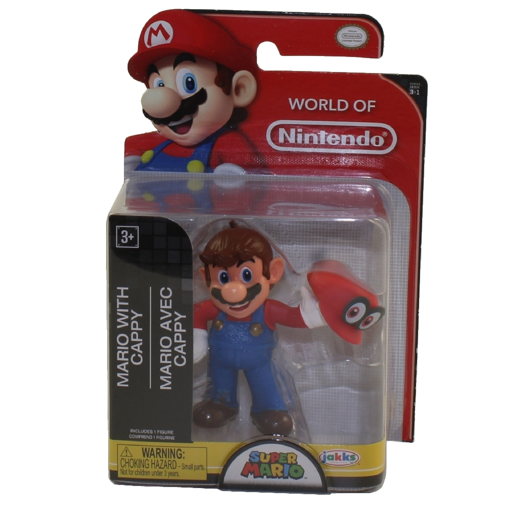 Jakks Pacific Toys - World of Nintendo Wave 16 Figure - MARIO WITH CAPPY (Super Mario)(2.5 inch)