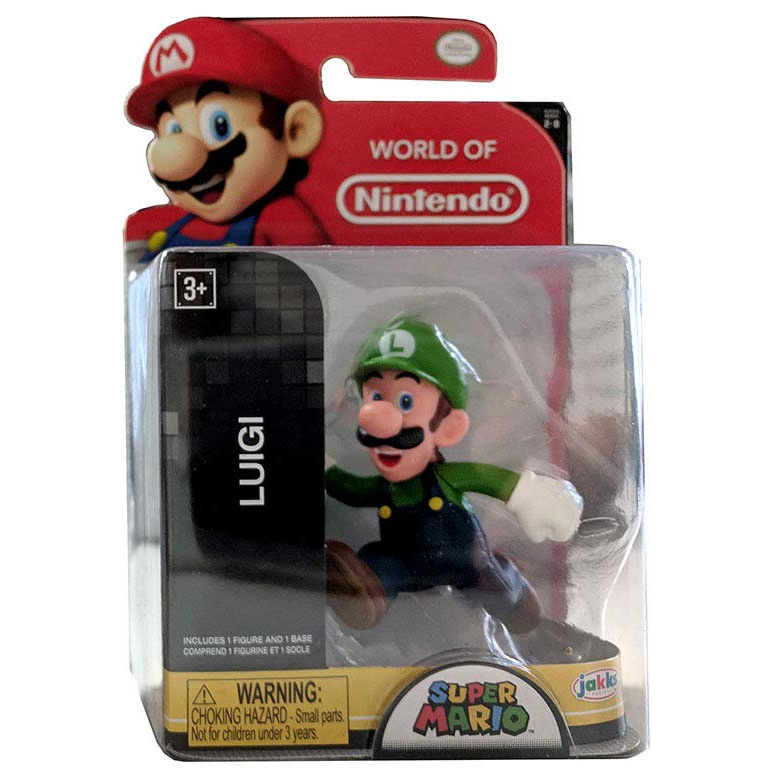 Jakks Pacific Toys - World of Nintendo Figure - LUIGI RUNNING (Super Mario)(2.5 inch)