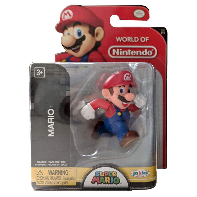 Jakks Pacific Toys - World of Nintendo Figure - MARIO RUNNING (Super Mario)(2.5 inch)