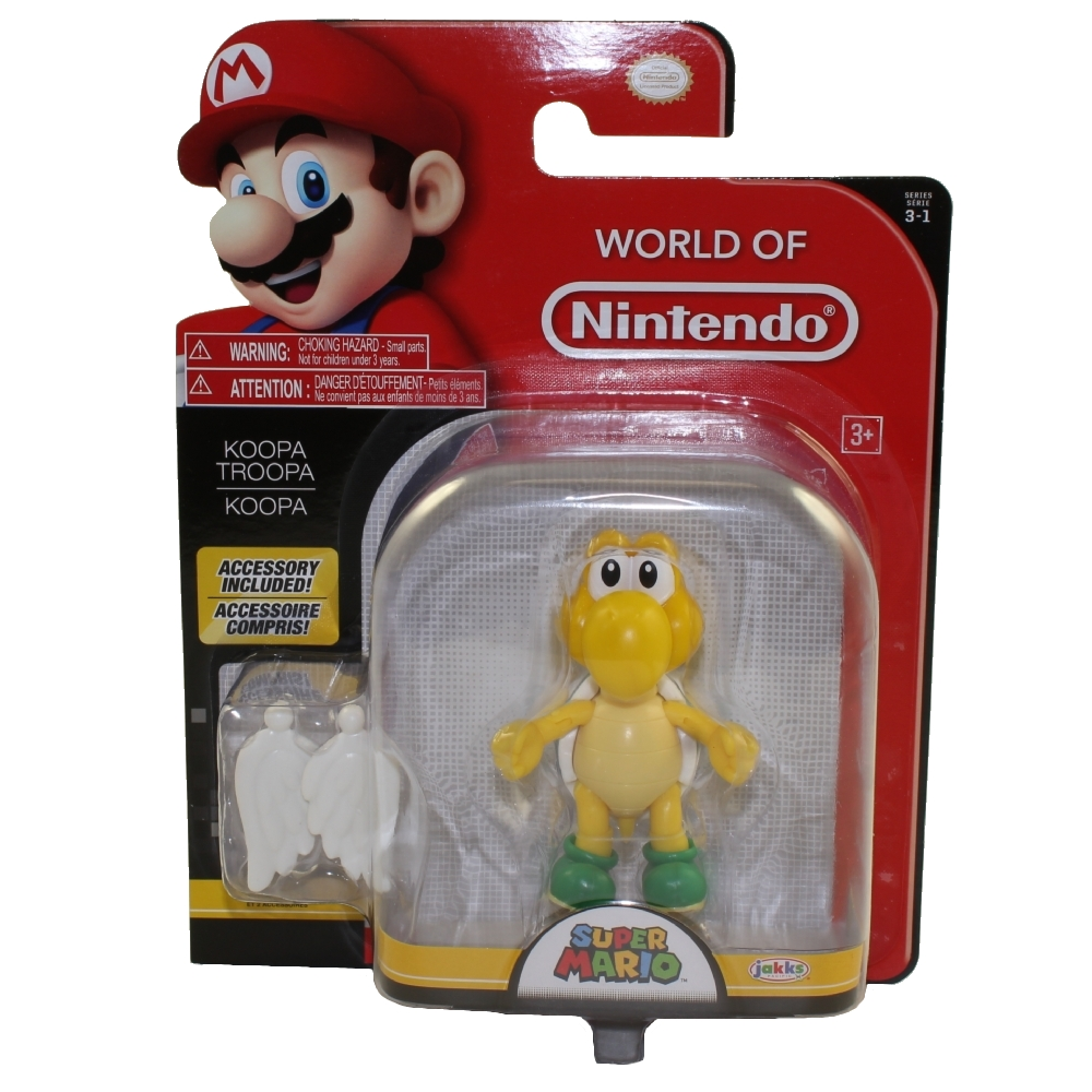 Jakks Pacific Toys - World of Nintendo Wave 13 Figure - KOOPA TROOPA w/ Wings (Super Mario)(4 inch)