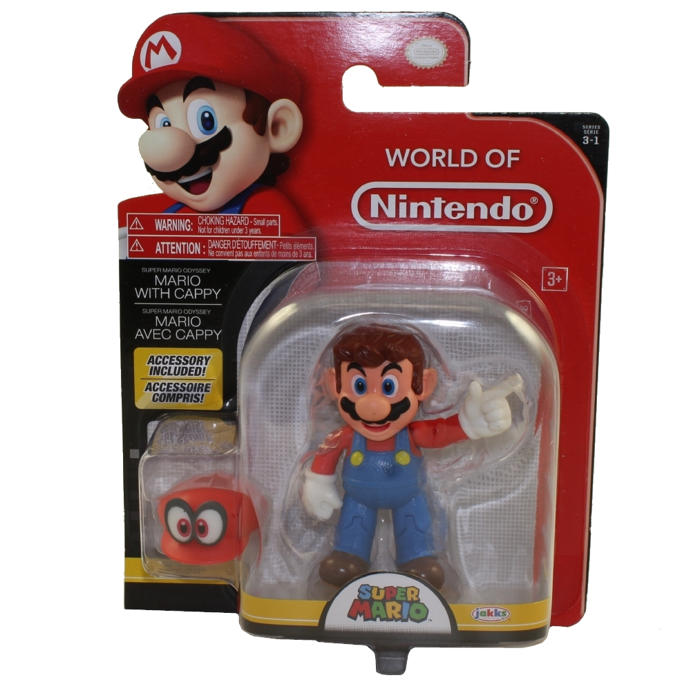 Jakks Pacific Toys - World of Nintendo Wave 13 Figure - MARIO w/ Cappy (Super Mario)(4 inch)