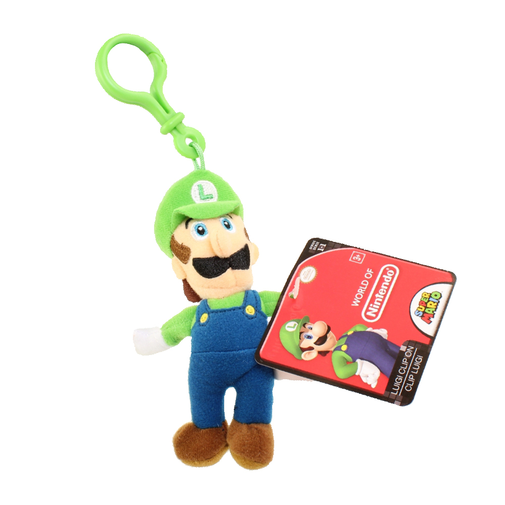 Jakks Pacific Toys - World of Nintendo - Plush Clip W1 - LUIGI (5 inch)