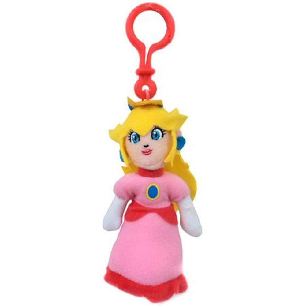 Jakks Pacific Toys - World of Nintendo - Plush Clip W1 - PRINCESS PEACH (5 inch)