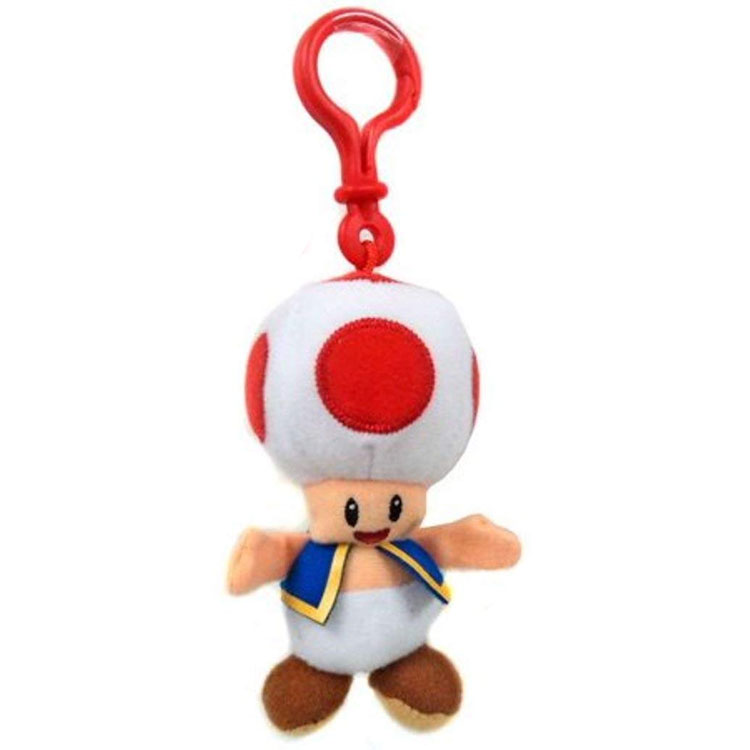 Jakks Pacific Toys - World of Nintendo - Plush Clip W1 - TOAD (5 inch)