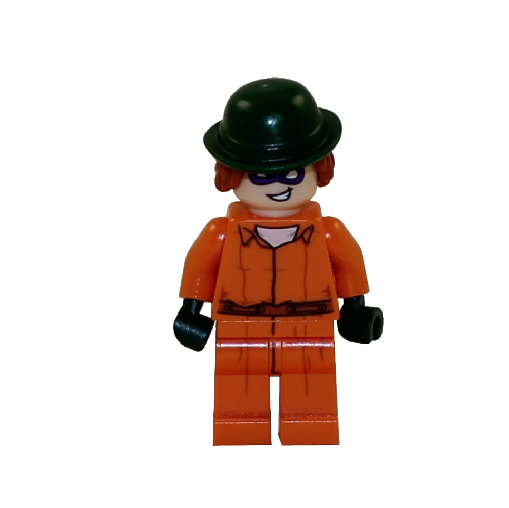 LEGO Minifigure - The LEGO Batman Movie - THE RIDDLER (Arkham Prison Jumpsuit)