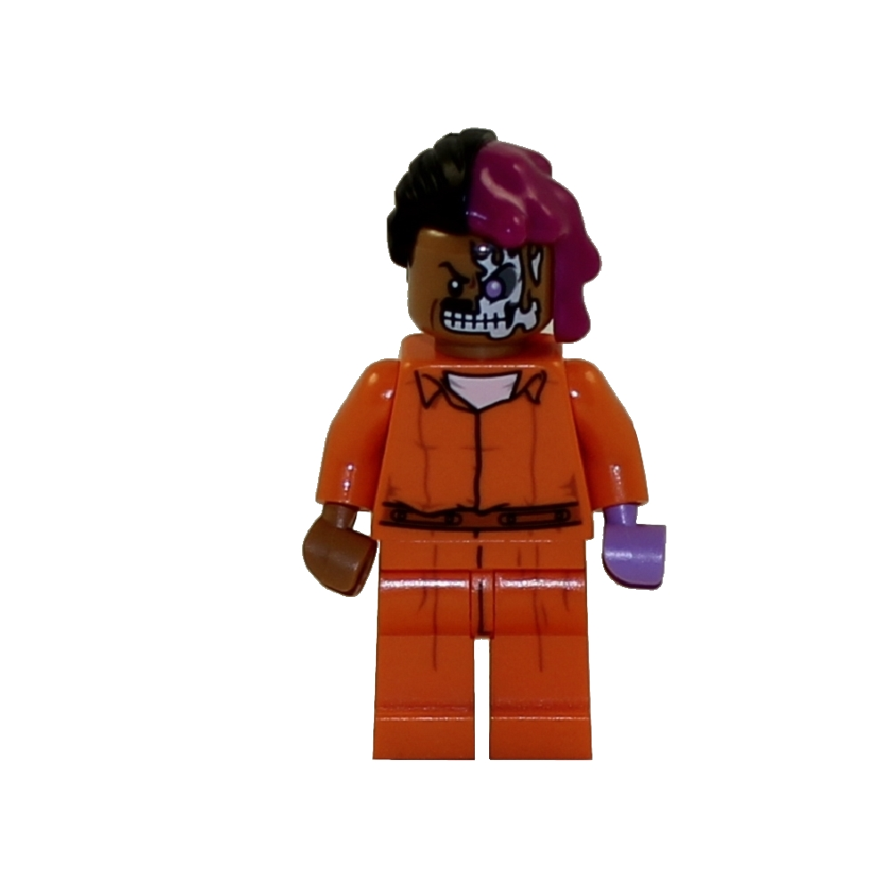 LEGO Minifigure - The LEGO Batman Movie - TWO-FACE (Arkham Prison Jumpsuit)