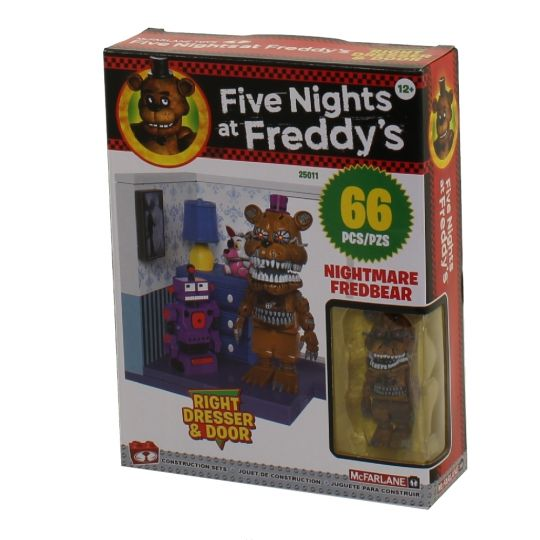 McFarlane Toys Building Small Sets - Five Nights at Freddy's S4 - RIGHT  DRESSER & DOOR