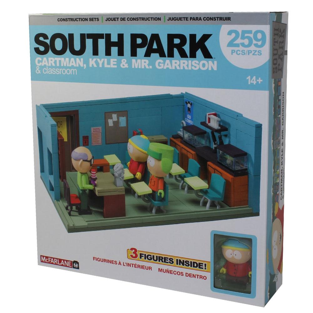 McFarlane South Park MR GARRISON KYLE CARTMAN with CLASSROOM  CONSTRUCTION SET