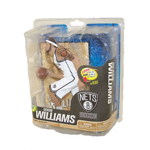 McFarlane Toys Action Figure - NBA Sports Picks Series 22 - DERON WILLIAMS (White Jersey)
