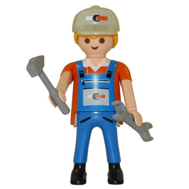 playmobil  series 5 boy themed figure  plumber