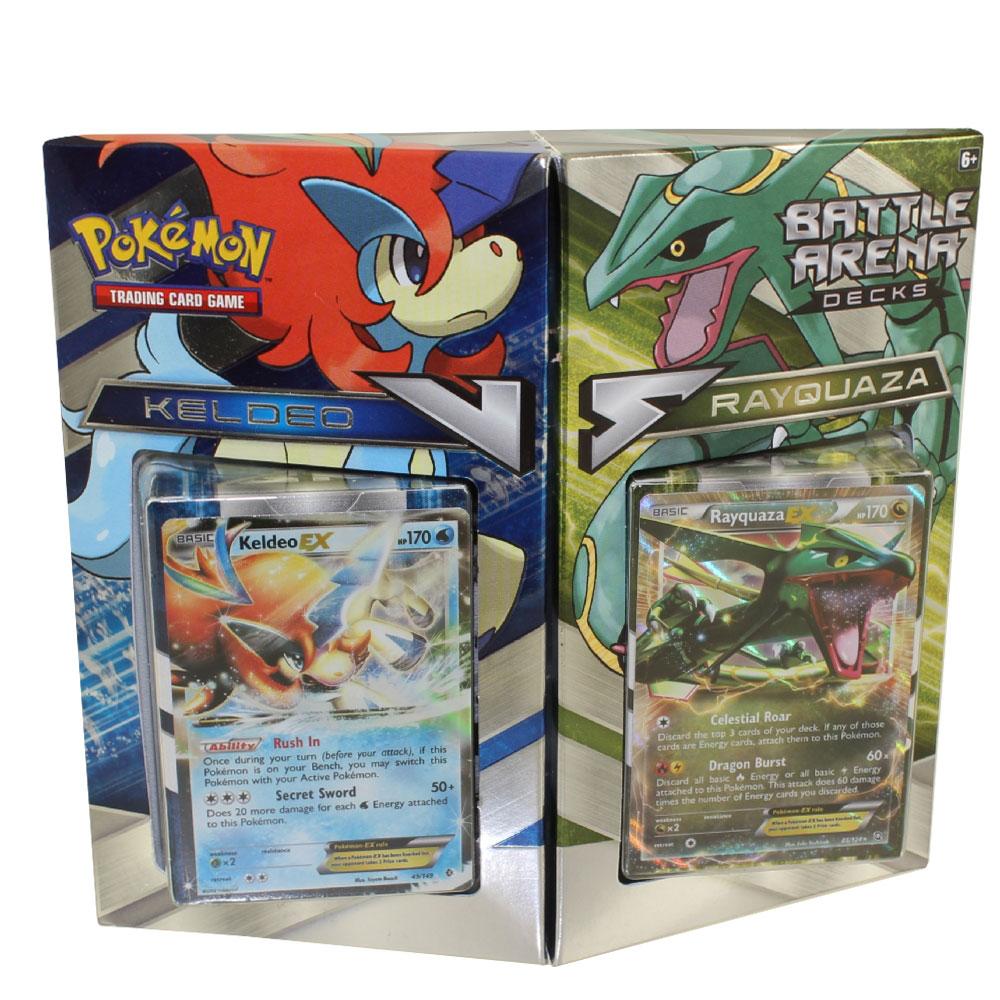 pokemon xy battle arena decks rayquaza vs keldeo two