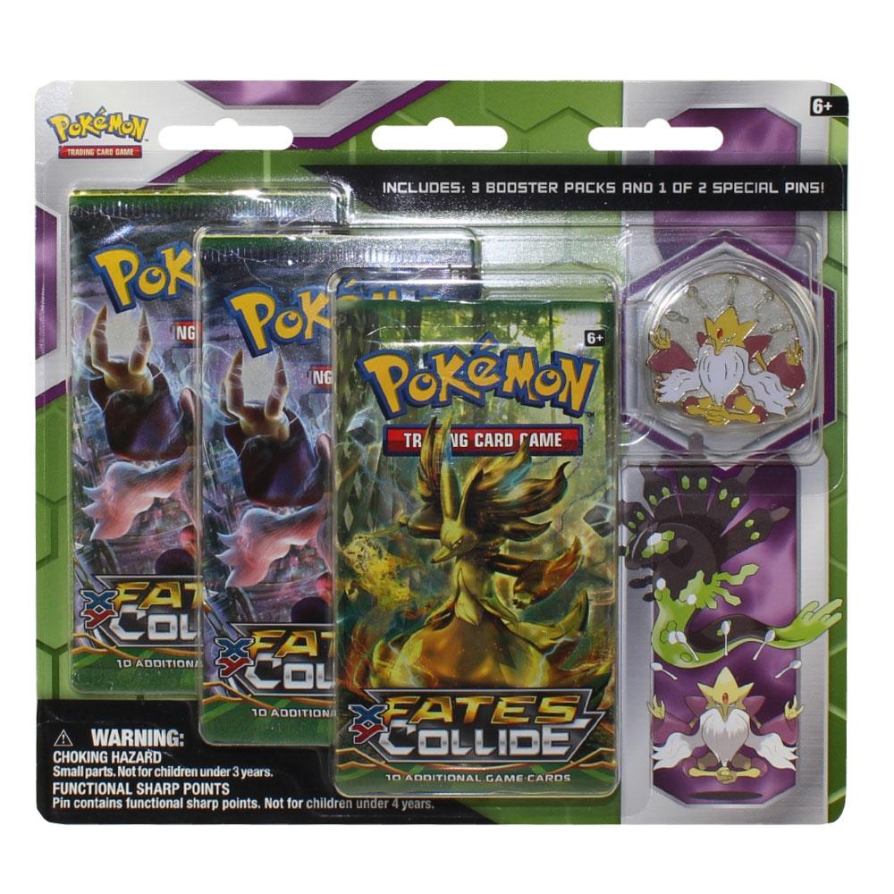 Pokemon Cards Blister 3 Packs with Pin MEGA ALAKAZAM