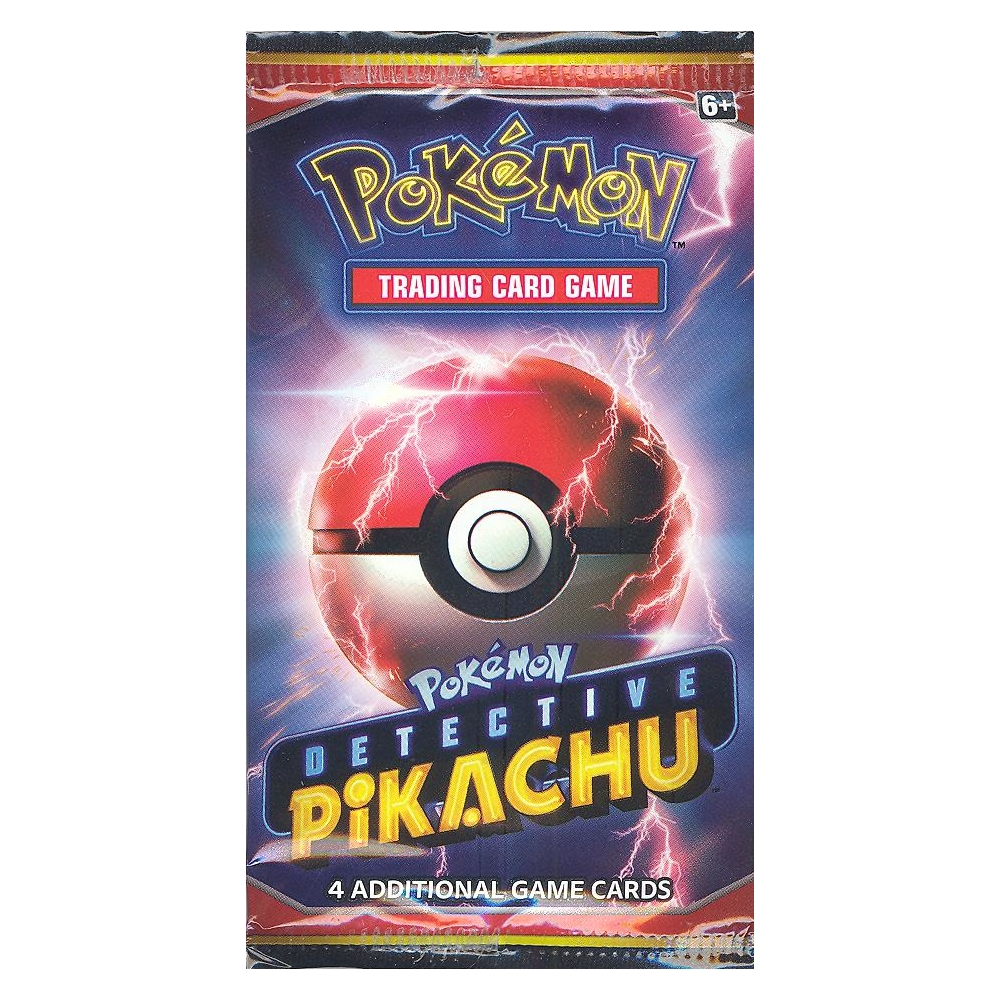 Factory Sealed Holo Pokemon Cards 10 DETECTIVE PIKACHU 4-Card Booster Pack Lot