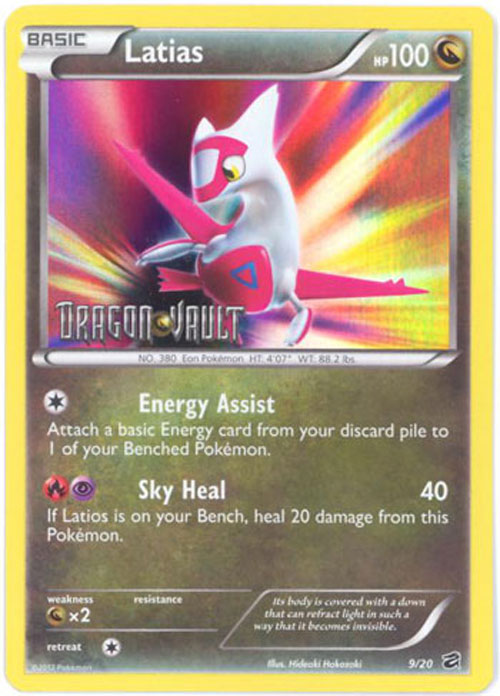 Pokemon Card - Dragon Vault 9/20 - LATIAS (reverse holo-foil ...