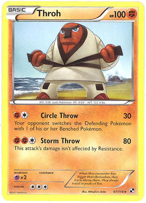 pokemon card black white 61 114 throh rare bbtoystore com