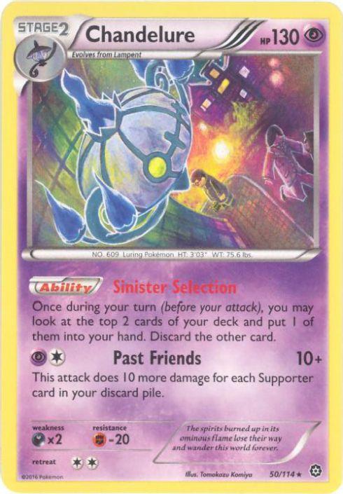 Pokemon Card - XY Steam Siege 50/114 - CHANDELURE (holo-foil)