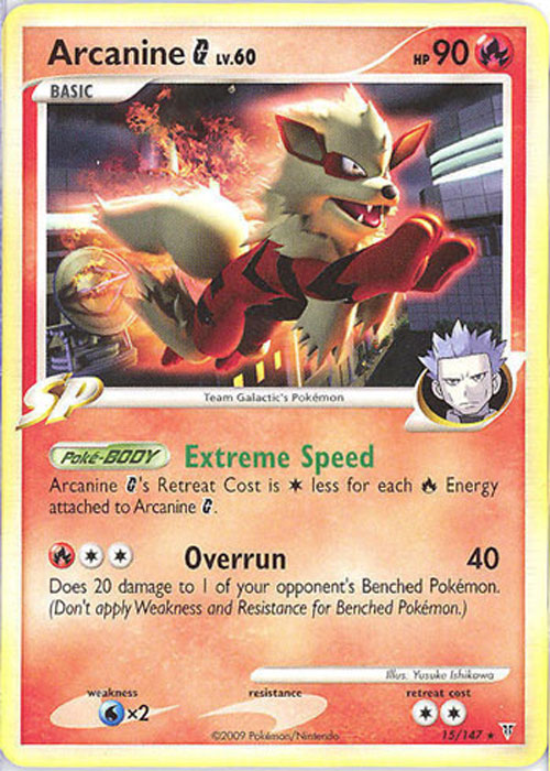 Pokemon Card Supreme Victors 15 147 Arcanine G Lv 60