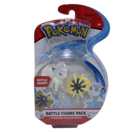 Pokemon Battle Action Figure Cosmoem /& Alolan Vulpix Brand New