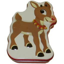 Boston America - Rudolph Candy Tin - REINDEER NOSES (Cinnamon Candy)