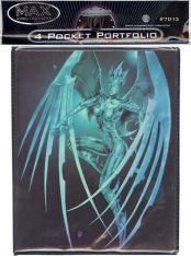 Trading Card Supplies - Max Protection 4 Pocket Portfolio - CYBER ANGEL