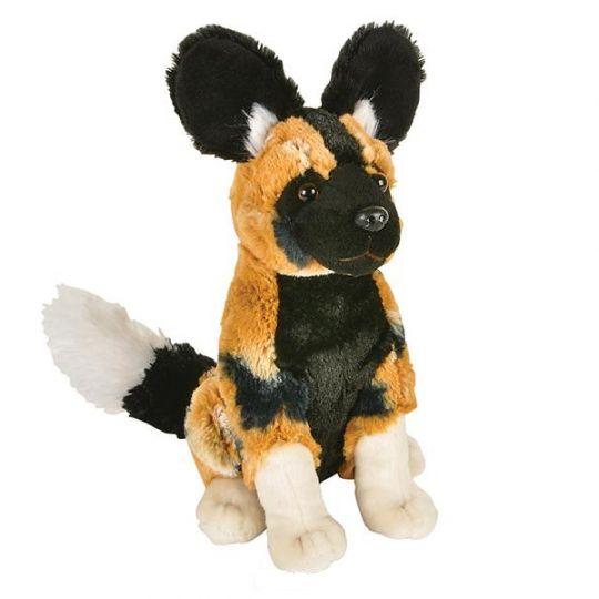 Adventure Planet Plush Animal Den - AFRICAN WILD DOG (8 inch)