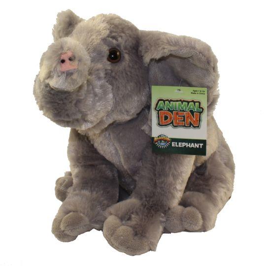 Adventure Planet Plush Animal Den - ELEPHANT (11 inch)
