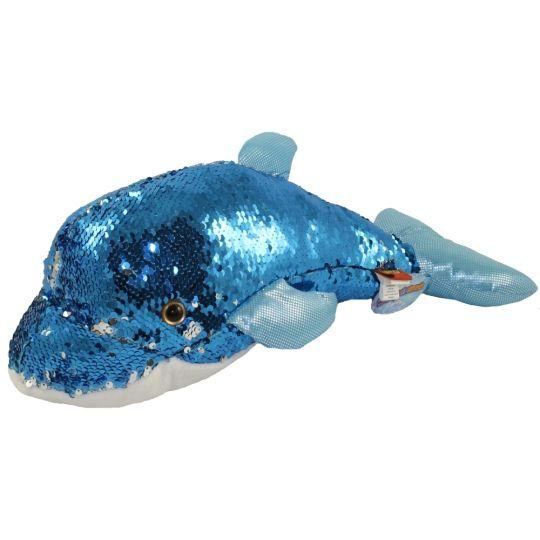 Adventure Planet Sequinimals Plush - DOLPHIN (Sequin - Blue   Silver) (18  inch)  BBToyStore.com - Toys 6f81fa56d395